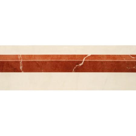 Villeroy & Boch New Tradition Bordiura 10x30 cm, kremowo-czerwona crema-rosso 1420ML38