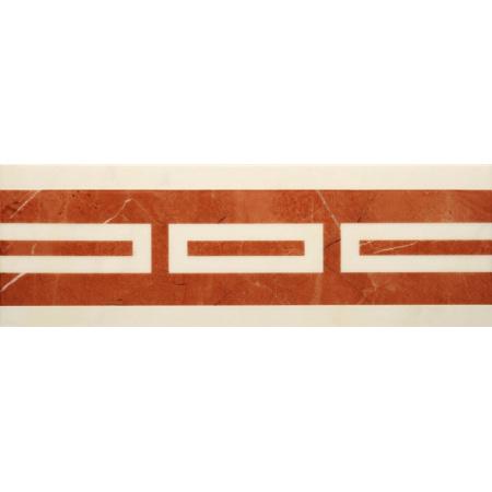 Villeroy & Boch New Tradition Bordiura 10x30 cm, kremowo-czerwona crema-rosso 1771ML35