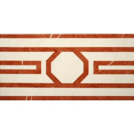 Villeroy & Boch New Tradition Bordiura 15x30 cm, kremowo-czerwona crema-rosso 1772ML36