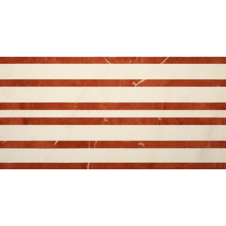 Villeroy & Boch New Tradition Bordiura 15x30 cm, kremowo-czerwona crema-rosso 1772ML37