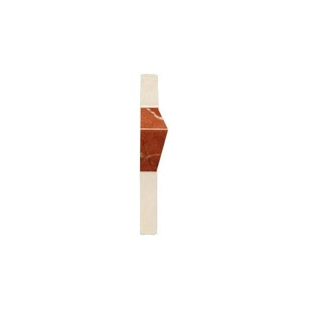 Villeroy & Boch New Tradition Płytka narożna 2x10 cm, kremowo-czerwona crema-rosso 1421ML38