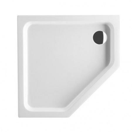 Villeroy & Boch O.Novo Brodzik pięciokątny 90x90x6 cm z akrylu, z powierzchnią antypoślizgową, biały Weiss Alpin UDA0906DEN5GV-01