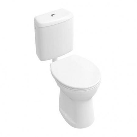 Villeroy & Boch O.Novo Toaleta WC stojąca kompaktowa 35,5x45,5 cm lejowa, biała Weiss Alpin 76180101