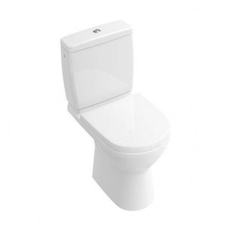 Villeroy & Boch O.Novo Toaleta WC stojąca kompaktowa 36x61 cm lejowa, z powłoką CeramicPlus, biała Weiss Alpin 568910R1