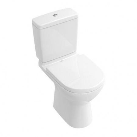 Villeroy & Boch O.Novo Toaleta WC stojąca kompaktowa 36x67 cm lejowa z powłoką CeramicPlus, biała Weiss Alpin 566101R1