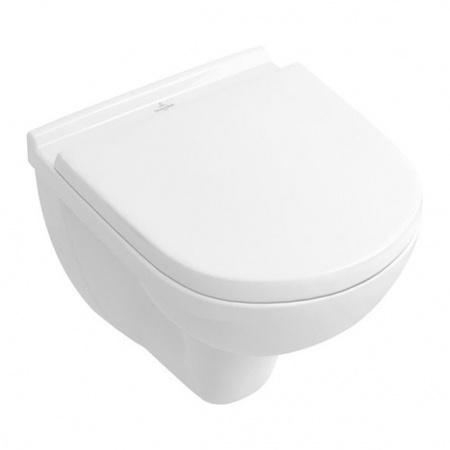 Villeroy & Boch O.NovoToaleta WC podwieszana 36x49 cm Compact krótka z powłoką CeramicPlus, biała Weiss Alpin 568810R1