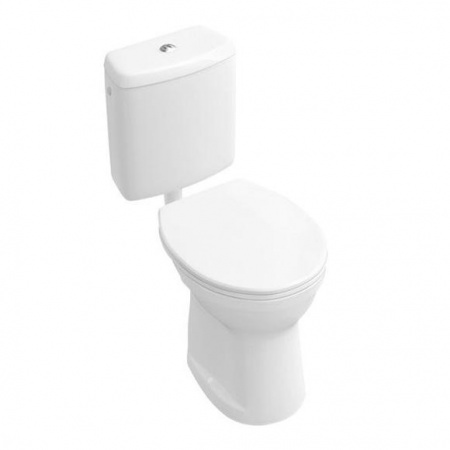 Villeroy & Boch O.Novo Toaleta WC stojąca kompaktowa 35,5x46,5 cm z półką z powłoką CeramicPlus, biała Weiss Alpin 761910R1