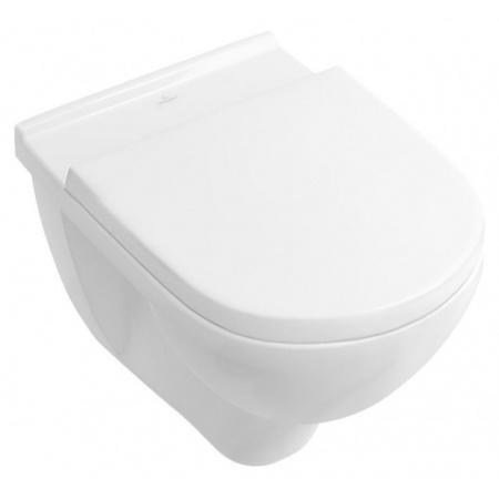 Villeroy & Boch O.Novo Toaleta WC podwieszana 36x56 cm lejowa DirectFlush bez kołnierza wewnętrznego z powłoką CeramicPlus, biała Weiss Alpin 5660R0R1