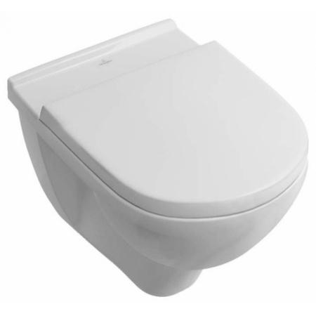 Villeroy & Boch O.Novo Toaleta WC podwieszana 36x56 cm lejowa z powłoką CeramicPlus, biała Weiss Alpin 566010R1