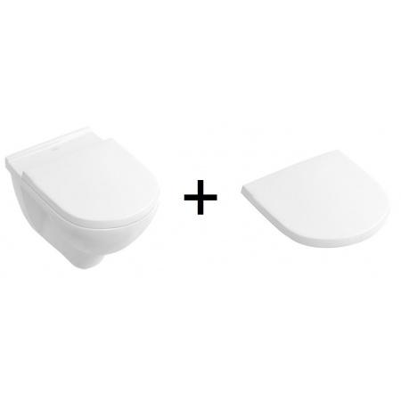 Villeroy & Boch O. Novo Toaleta WC podwieszana 56x36 cm z deską sedesową wolnoopadającą, biały 5660H101 (56601001+9M38S101)