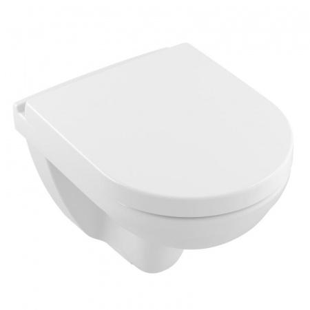Villeroy & Boch O.Novo Toaleta WC podwieszana 36x49 cm Compact krótka DirectFlush bez kołnierza z powłoką CeramicPlus, biała Weiss Alpin 5688R0R1