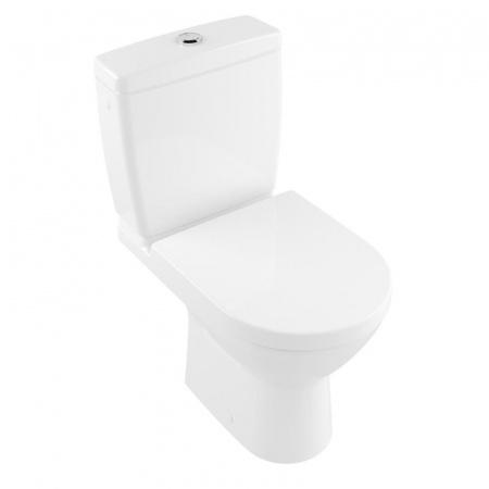 Villeroy & Boch O.Novo Toaleta WC stojąca kompaktowa 36x61 cm Compact krótka DirectFlush bez kołnierza, biała Weiss Alpin 5689R001