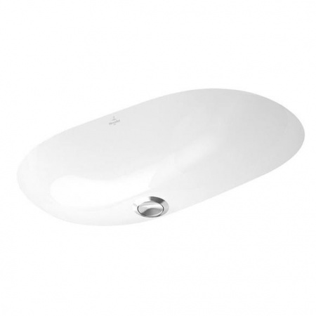 Villeroy & Boch O.Novo Umywalka podblatowa 65x40 cm, z przelewem, z powłoką CeramicPlus, biała Weiss Alpin 416260R1
