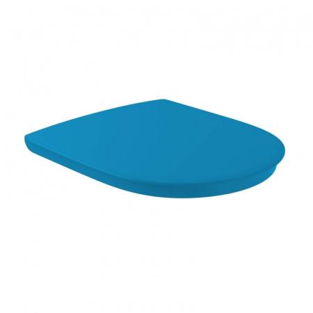 Villeroy & Boch O.Novo Vita Deska sedesowa VITA wolnoopadająca z powłoką AntiBac, niebieska Blue 9M67S1P1