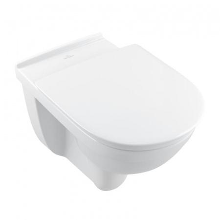 Villeroy & Boch O.Novo Vita Toaleta WC podwieszana 36x59,78 cm lejowa DirectFlush bez kołnierza wewnętrznego z powłoką CeramicPlus, biała Weiss Alpin 4695R0R1