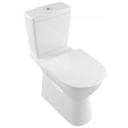Villeroy & Boch O.Novo Vita Toaleta WC VITA stojąca kompaktowa 36x70 cm lejowa DirectFlush bez kołnierza wewnętrznego z powłoką CeramicPlus, biała Weiss Alpin 4620R0R1