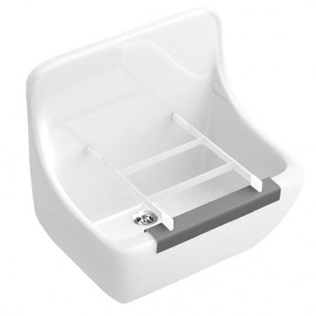 Villeroy & Boch O.Novo Zlewozmywak ceramiczny jednokomorowy 45x40x35 cm z powłoką CeramicPlus biały Weiss Alpin 691201R1