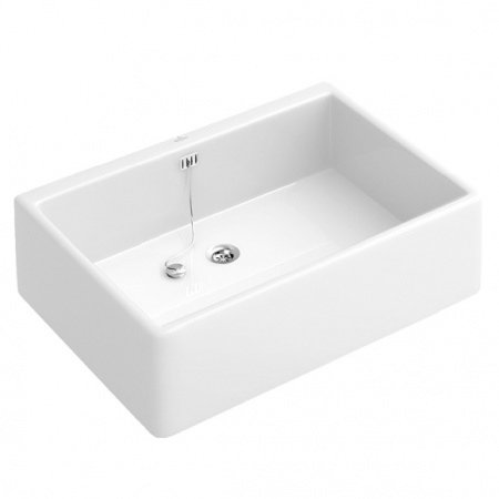 Villeroy & Boch O.Novo Zlewozmywak ceramiczny jednokomorowy 49,5x17x40 cm z powłoką CeramicPlus biały Weiss Alpin 632110R1