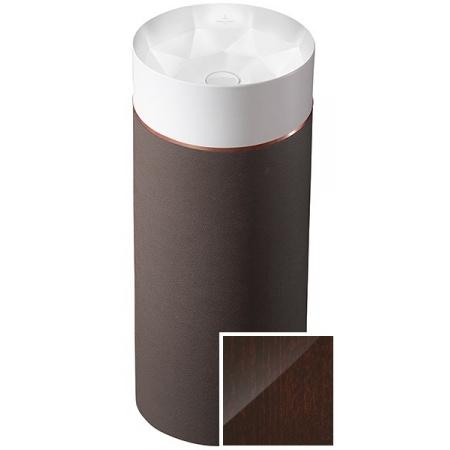 Villeroy & Boch Octagon Umywalka wolnostojąca z postumentem, biała/Dark Chestnut 417000PR