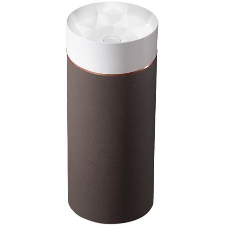Villeroy & Boch Octagon Umywalka wolnostojąca z postumentem, biała/Mocha Leather 417000PQ