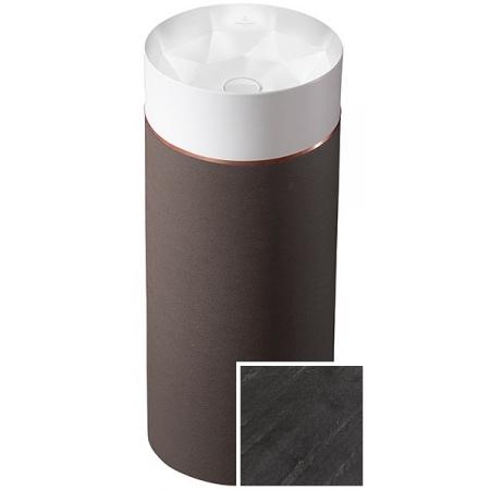 Villeroy & Boch Octagon Umywalka wolnostojąca z postumentem, biała/Smoky Slate 417000PS