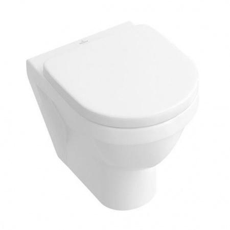 Villeroy & Boch Architectura Toaleta WC Compact  podwieszana 35,5x48 cm lejowa, z powłoką CeramicPlus, biała Weiss Alpin 568210R1