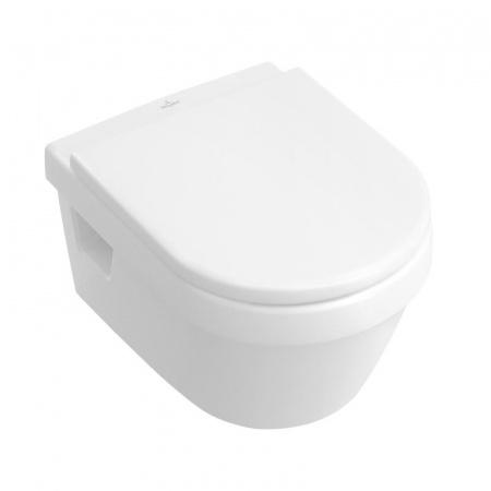 Villeroy & Boch Architectura Toaleta WC podwieszana 37x53 cm, lejowa z przelewem, z powłoką CeramicPlus, biała Weiss Alpin 568410R1