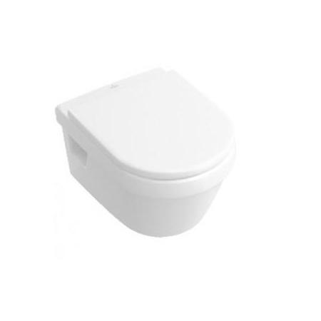 Villeroy & Boch Architectura Toaleta WC podwieszana 37x53 cm, lejowa, bez kołnierza wewnętrznego, z powłoką CeramicPlus, biała Weiss Alpin 5684R0R1