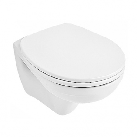 Villeroy & Boch O.Novo Toaleta WC podwieszana 36x54 cm Compact krótka z powłoką CeramicPlus, biała Weiss Alpin 766710R1