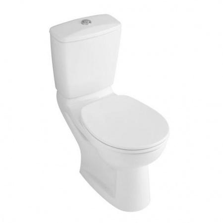 Villeroy & Boch O.Novo Toaleta WC stojąca kompaktowa 35,5x71 cm lejowa z powłoką AntiBac, biała Weiss Alpin 6C5901R1