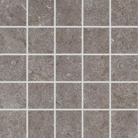 Villeroy & Boch Oregon Mozaika podłogowa 7,5x7,5 cm rektyfikowana Vilbostoneplus, szara grey 2028ST60