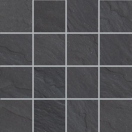 Villeroy & Boch Place Mozaika podłogowa 7,5x7,5 cm rektyfikowana Vilbostoneplus, czarna black 2486SL90