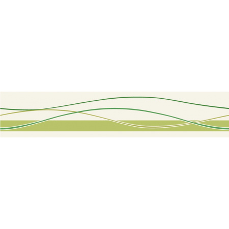 Villeroy & Boch Play It! Bordiura 10x50 cm, zielona green 1526PI55