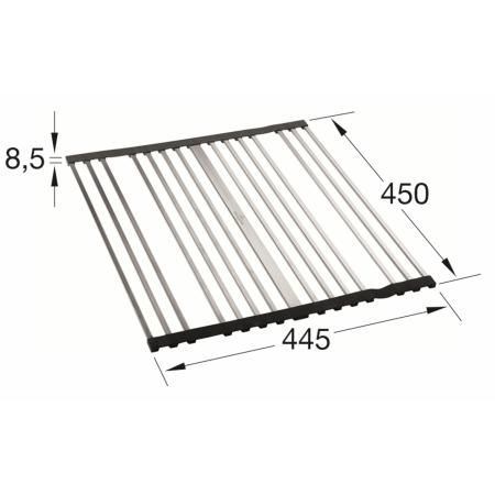 Villeroy&Boch Rolowana kratka ociekowa do zlewozmywaka 44,5x45x0,85 cm, stalowa/czarna 9K0800K1