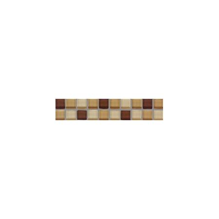 Villeroy & Boch Smart Bordiura Cube 5x25 cm, brązowo-beżowa brown-beige 1025BK80