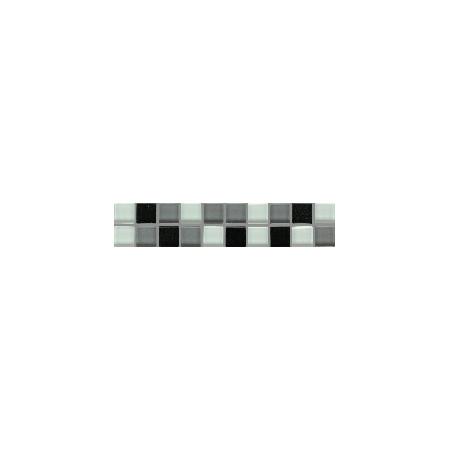 Villeroy & Boch Smart Bordiura Cube 5x25 cm, czarna black 1025BK90