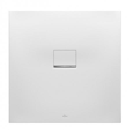Villeroy & Boch Squaro Infinity Brodzik kwadratowy 100x100x4 cm z Quarylu, biały Stone White UDQ1010SQI1V-RW