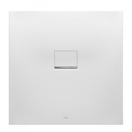 Villeroy & Boch Squaro Infinity Brodzik kwadratowy 90x90x4 cm z Quarylu, biały Stone White UDQ9090SQI1V-RW