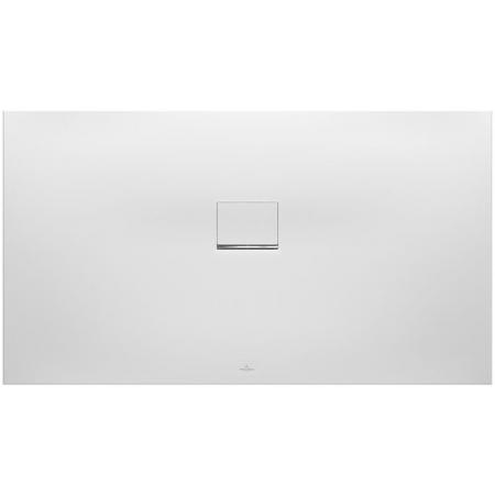 Villeroy & Boch Squaro Infinity Brodzik prostokątny 160x100 cm z Quarylu biały Stone White UDQ1610SQI2LV-RW