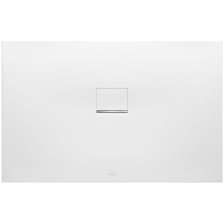 Villeroy & Boch Squaro Infinity Brodzik prostokątny 120x80x4 cm z Quarylu, biały Stone White UDQ1280SQI2V-RW