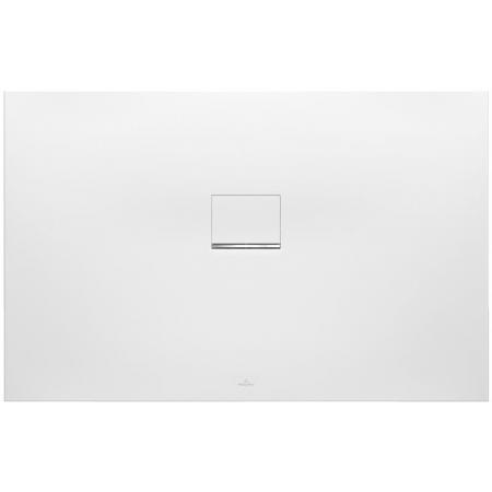 Villeroy & Boch Squaro Infinity Brodzik prostokątny 140x80x4 cm z Quarylu, biały Stone White UDQ1480SQI2V-RW
