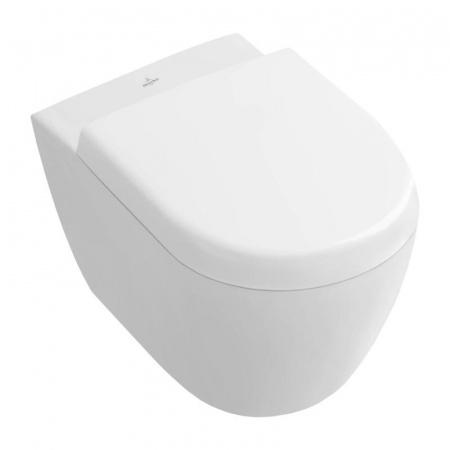 Villeroy & Boch Subway 2.0 Toaleta WC podwieszana 35,5x48 cm Compact krótka DirectFlush bez kołnierza, biała Weiss Alpin 5606R001