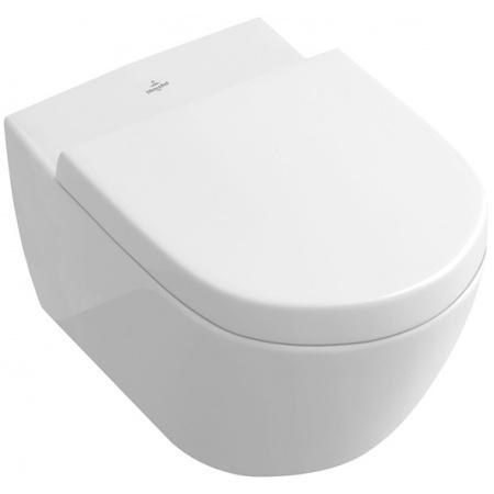 Villeroy & Boch Subway 2.0 Toaleta WC wisząca 37,5x56,5 cm lejowa DirectFlush bez kołnierza wewnętrznego z powłoką AntiBac, Weiss Alpin 5614R0T1