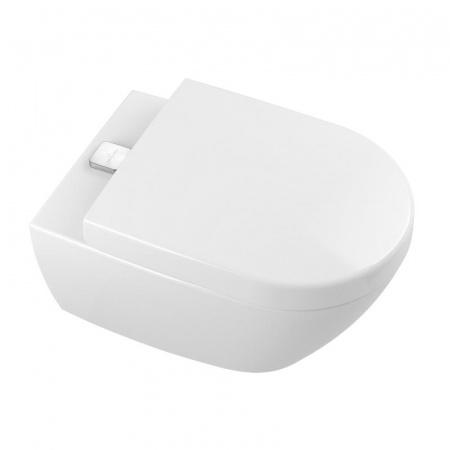 Villeroy & Boch Subway 2.0 Toaleta WC podwieszana 37x56 cm lejowa DirectFlush bez kołnierza wewnętrznego z powłoką CeramicPlus, biała Weiss Alpin 5614A1R1