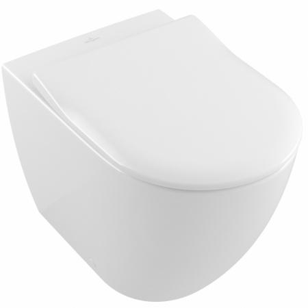 Villeroy & Boch Subway 2.0 Toaleta WC stojąca 37x56 cm lejowa DirectFlush bez kołnierza wewnętrznego, biała Weiss Alpin 5602R001