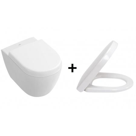 Villeroy & Boch Subway 2.0 Zestaw Toaleta WC podwieszana 48x35,5 cm Compact z deską sedesową wolnoopadającą, biały 56061001+9M69S101