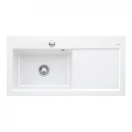 Villeroy & Boch Subway 60 XL Classicline Zlewozmywak ceramiczny 51x100 cm lewy, biały CeramicPlus 671801R1