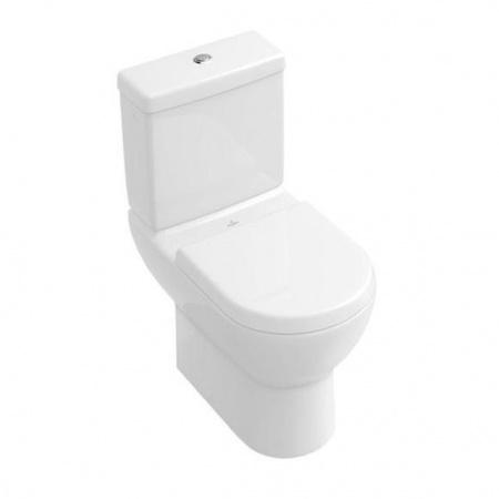 Villeroy & Boch Subway Toaleta WC stojąca kompaktowa 37x67 cm, lejowa, z powłoką CeramicPlus, biała Weiss Alpin 660910R1