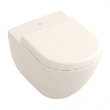 Villeroy & Boch Subway Toaleta WC podwieszana 37x56 cm z półką, z powłoką CeramicPlus, pergamonowa 660310R3