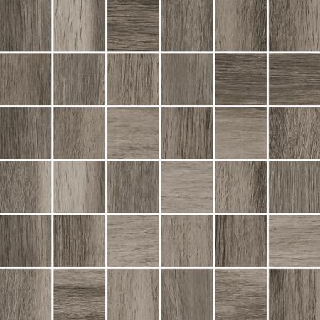 Villeroy & Boch Tuxedo Mozaika podłogowa 5x5 cm rektyfikowana Vilbostoneplus, czarno-brązowa black-brown 2035TX80